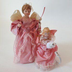 Vintage Angel Christmas Tree Ornaments SM and LG